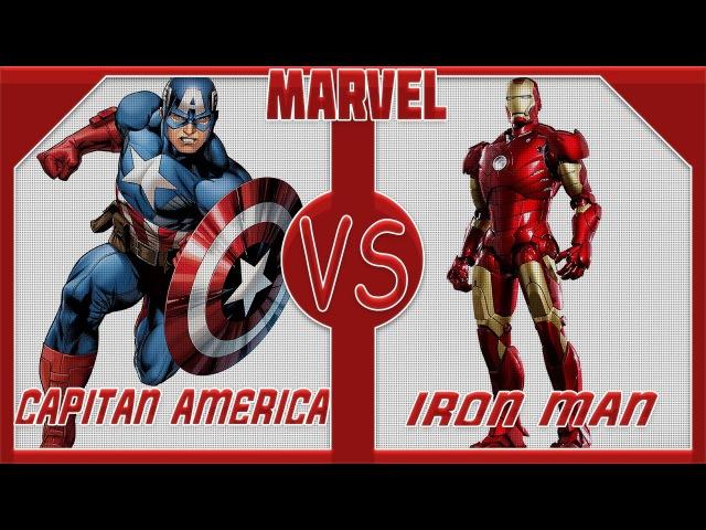 Железный человек VS Капитан Америка