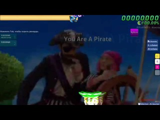 Walkthrough Osu (CTB) beatmap Lazy Town - You Are A Pirate [Lazy] - (NC)