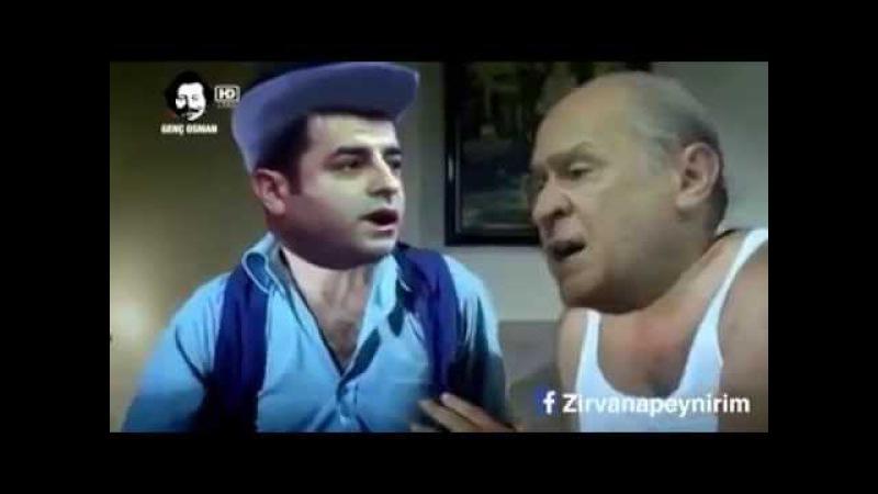 Selehattin Demirtaş ve Devlet Bahceli Kavgalı Komik Sahneler 2015 Sakar Şakir. Komedi Sahneleri
