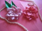 Цветы канзаши из атласных лент. DIY Satin Ribbon Flower / Kanzashi Flower Tutorial
