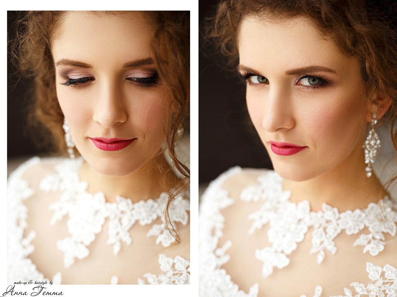 Свадебный макияж и прическа на дому цена