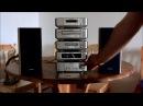 Aiwa XR m99 Musikanlage mit blauer beleuchtung
