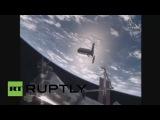Стыковка грузового корабля Cygnus с МКС