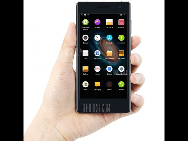 BLUBOO XTOUCH 3GB 4G смартфон - ЧЕРНЫЙ