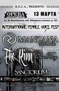 13/03 - International Female Metal Voice - OPERA