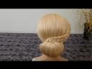 Вечерняя, свадебная причёска на средние-длинные волосы.Причёска на выпускной.Пучок из волос