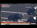 Police Chase Stolen Taxi Pursuit - Stolen Car Disneyland