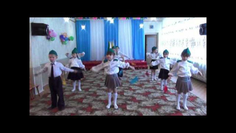 23 февраля в детском саду ШЕСТВИЕ С ФЛАЖКАМИ г.Гулькевичи д/с №19