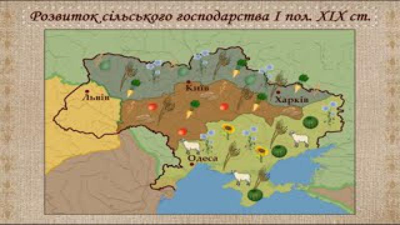 Економічний розвиток українських земель на поч XIX ст укр Історія України 9 клас
