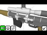 Qubism 3D modeling, мои модели 2, оружие и робот-курочка!
