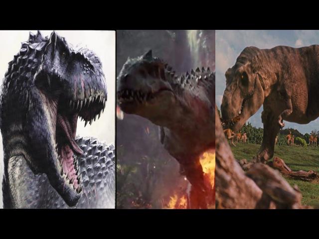 Indominus Rex vs V-Rex vs T-Rex (HD)