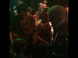 Karl Lagerfeld and Hudson Kroenig dancing at Chanel's Cuba