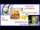 Sal Marina y Cascara de Limon para Exfoliar la Piel