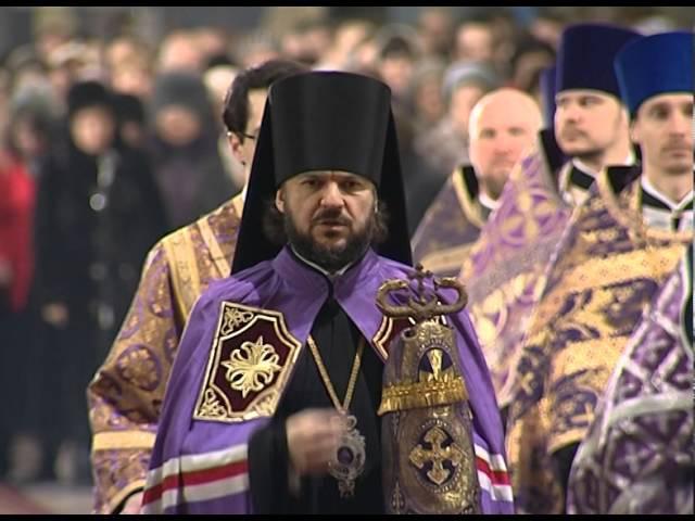 Торжество Православия. Литургия Василия Великого. Архиерейский вход - Достойно есть