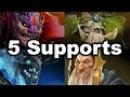 5 Supports Team vs Megacreeps MSS Tree Merlini Lion Dota 2