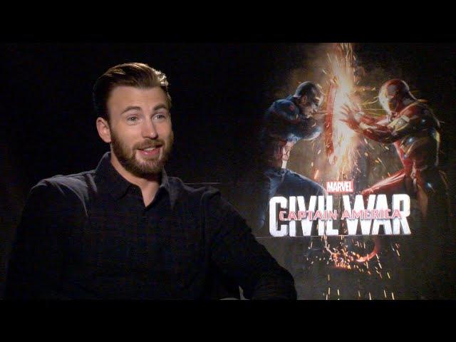 CAPTAIN AMERICA CIVIL WAR uncensored interviews - Evans, Stan, Mackie, Boseman, Russo, Bettany