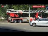 Пожарный автомобиль попал в ДТП на севере Москвы