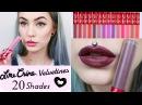 Lip swatches | LimeCrime Velvetine (20 shades)