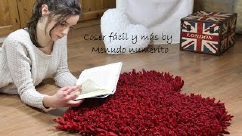 Cómo hacer una alfombra de trapillo (a favor de Menudos Corazones) » Freewka.com - Смотреть онлайн в хорощем качестве