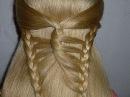 Причёска с плетением - Бабочка. Причёска на средние/длинные волосы. Причёски в школу для девочек