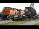 BNSF 7009 Crosses the Swinomish Swing Bridge 4K