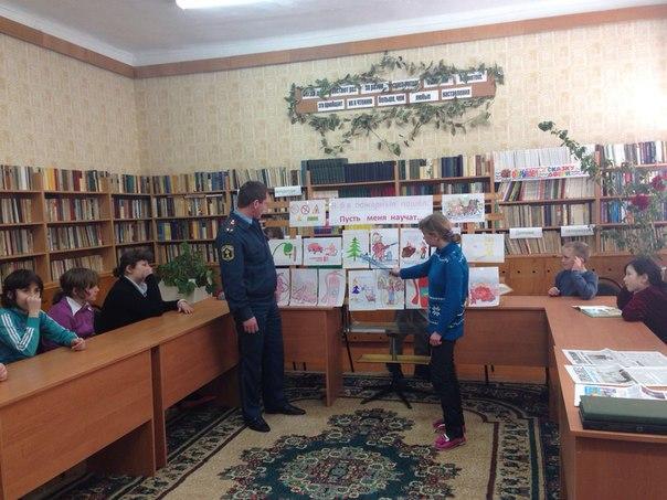 В школе-интернате села Хуса-Кардоник состоялась выставка детских рисунков «Я бы в пожарные пошел»