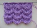 Вязание волнистого ажурного узора Вязание спицами Knitting Hobby