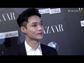 160909 Bazaar Charity Night Red Carpet @ EXO's Lay (Zhang Yixing)