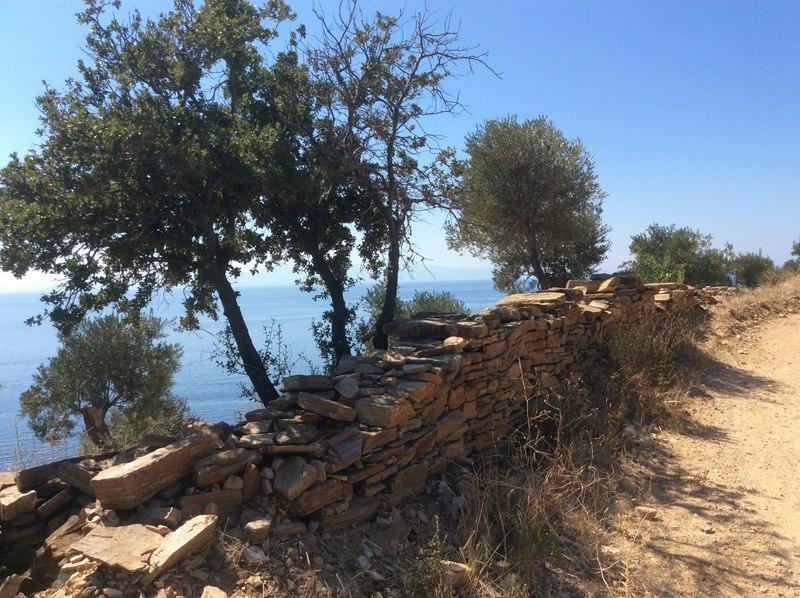 Дорога в монастырь Ксенофонт
