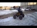 Самодельный трактор с реверсивным вариатором
