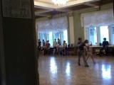 Дима и Катя на тренировке репетируют румбу