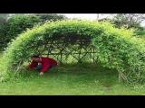Красивый сад идеи для дачи беседка из ивы своими руками