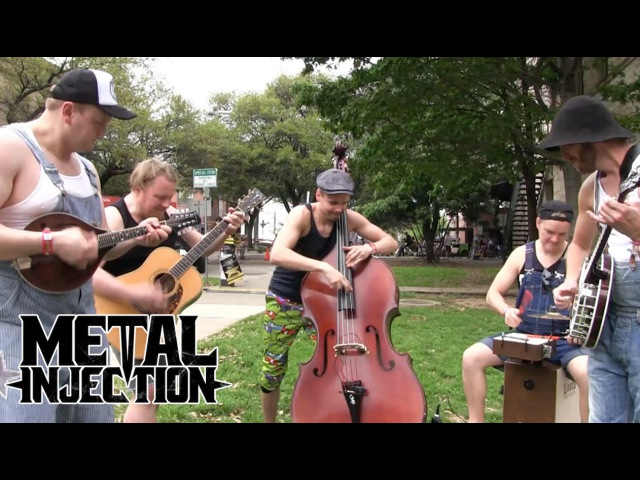 AC DC You Shook Me All Night Long By STEVE 'N' SEAGULLS at SXSW 2016 Metal Injection