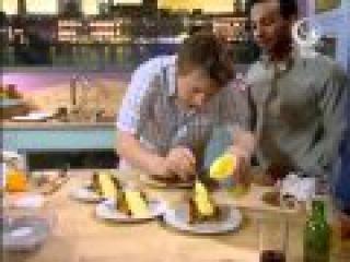 Жить вкусно с Джейми Оливером- Готовим рыбу и чипсы
