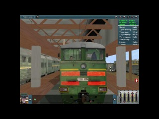 Запуск и управление 2ТЭ10У-0100 в Trainz Simulator 2012.
