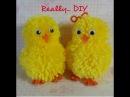 Pompom chick bunny tutorial