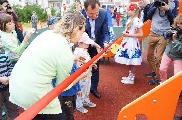 Открытие новых детских площадок в мкр. Заря и мкр. Северный