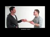 Eddie the Eagle screen test with Taron Egerton and Hugh Jackman!