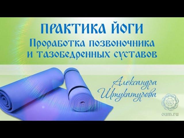 Практика йоги. Проработка позвоночника и тазобедренных суставов. А. Штукатурова