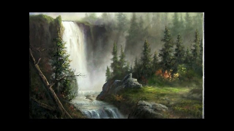 Oil painting | Cascading Waterfall | Paint with Kevin Hill