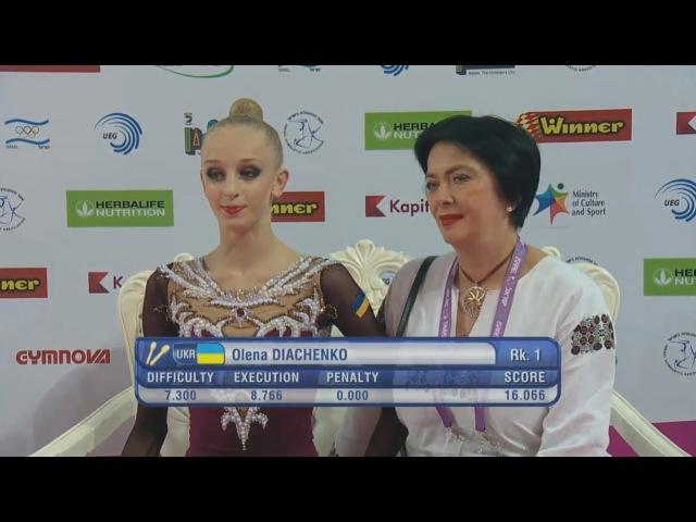 Olena Diachenko Clubs EF - European Championships Holon 2016