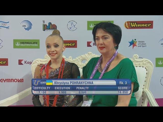 Khrystyna Pohranychna Rope EF - European Championships Holon 2016