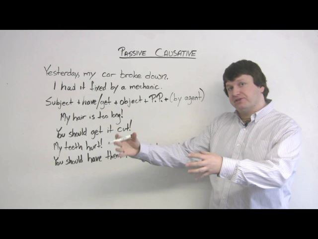 English Grammar - Passive Causative