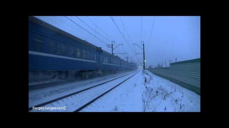 Электровоз ЧС7 с поездом № 78 Гродно - Москва