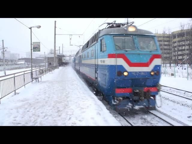 ЧС7-043 с поездом 077Щ Москва-Гродно Неман и приветливой лок.бригадой