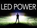 Самодельный фонарь на 72 000 люмен с линзами из эпоксидной смолы/Water Cooled 72,000 Lumen LED Flashlight!!