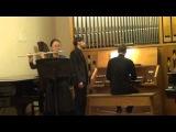 Бах. Соната си минор для флейты и органа (I часть)