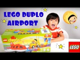 LEGO DUPLO Set: Lego AIRPORT! Lego Games for kids and toy cars in kids videos