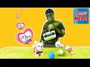 Супергерой Халк, Чи Чи Лав и Ам Ням Игры для мальчиков в приколы видео! The Hulk toy dogs