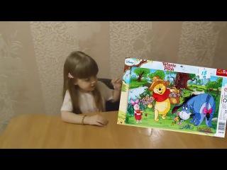 Детский набор Дисней Винни Пух, Пазлы, Мемо, Карты, Домино! Развивающие игры. Unboxing Disney Winnie